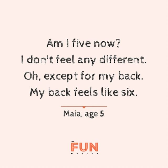 I kind of feel the same except that my back feels more 66 now!  #birthdayParty #kidsParty #Toronto #KidsToronto #Parent #StaySafe #CreateMemories  #FrenchInToronto #BilingualKids #FrenchParty #Ontario #GTA #localBusiness #kidsquotes #quotestagram